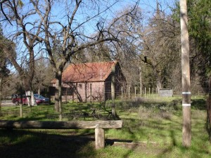 In June 2006 this barn near the Chico Creek Nature Center, said to have been used for storage by John Bidwell, was destroyed by fire.