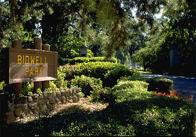 Image of Bidwell Park Sign